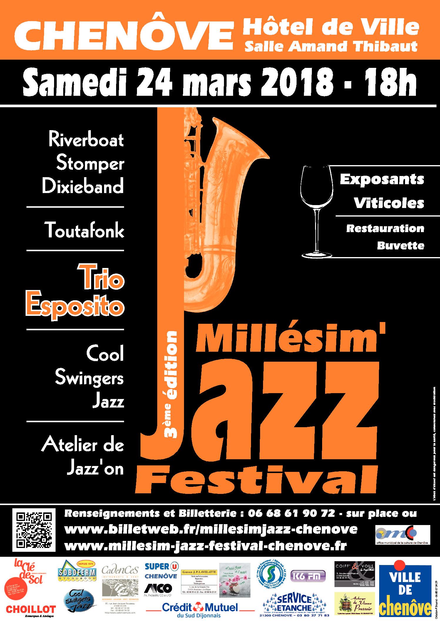 Jazz'On au Millésim' Jazz Festival le 24 Mars à Chenôve